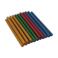 lepidlo tavné, 4 farby s trblietkami - červená, žltá, modrá, zelená 7,5 x 100mm, 20 ks