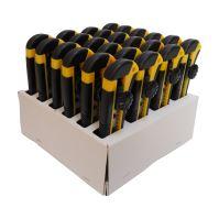 nôž odlamovací, plastový, v predajnom kartóne, súprava 24 ks, 18 mm