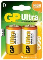 batérie GP Ultra Alkaline, LR20, veľké mono D, blister 2 ks, 1,5 V