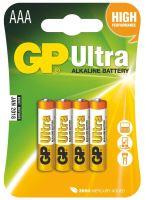 batérie GP Ultra Alkaline, LR03, mikroceruzka AAA, blister 4 ks, 1,5 V