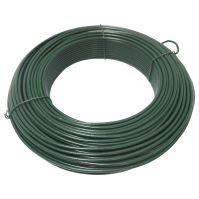 drôt napínaci, poplastovaný, zelený, O 3,8 mm / 51 m