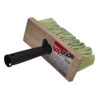 štetka murárska, drevená, hranatá, s plastovou rukoväťou