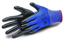 rukavice ALLSTAR, s nitrilovým potahom a úpletom, velikosť 9