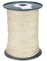 lano stáčané, prírodné, sisal, bez jadra, O 10 mm x 100 m, Lanex