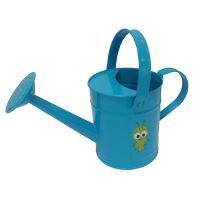 detské záhradné náradie - konva, kovová, modrá, 1,6 l