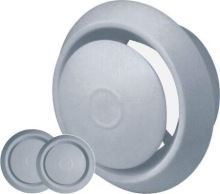 anemostat plastový, biely, s tlačnou aretáciou, O 150/200 mm
