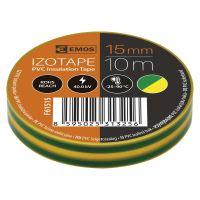 páska elektroizolačná, žltozelená, 15 mm x 10 m