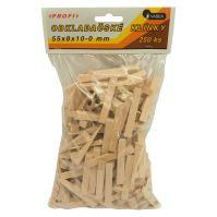 klinky drevené, obkladačské, balenie 250 ks, 55 x 8 x 10 - 0 mm