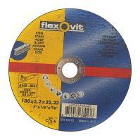 kotúč Flexovit, rezný, na kov, 180 x 22,23 x 3,2 mm, profi