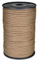 lano stáčané, prírodné s polypropylénom, bez jadra, J-PP, O 8 mm x 100 m, Lanex