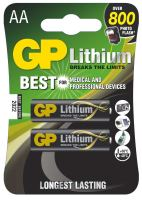 batérie GP lítium, FR6, ceruzka AA, blister 2 ks, 1,8 V