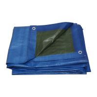 plachta krycia, modro-zelená, s kovovými okami, 5 x 8 m, 150 g / m2, profi