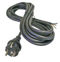 šnúra flexo, gumená, čierna, vidlica priama, neoddeliteľná, 5 m, vodič 3 x 1,5 mm
