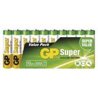 batérie GP Super, LR06, ceruzka AA, sada 10 ks, 1,5 V
