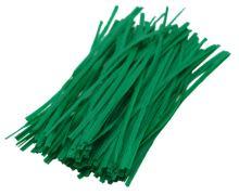 drôt oceľový, poplastovaný, zelený, 5000 ks, 0,4 x 250 mm