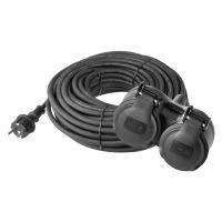 kábel predlžovací, gumený, 2 zásuvky, 25 m, 250 V ~ / 16 A, IP 44