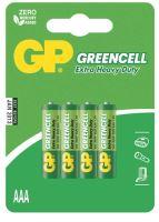 batérie GP Greencell, zinkovo - chloridová R03, mikroceruzka AAA, blister 4 ks, 1,5 V