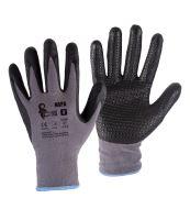 rukavice NAPA, s úpletom, šedo - čierne, veľkosť 10