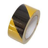 páska výstražná, lepiaca, PVC, čierno - žltá, 50 mm x 33 m