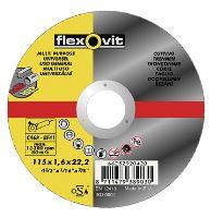kotúč Flexovit, řezný, univerzálny, 115 x 22,23 x 1 mm, profi