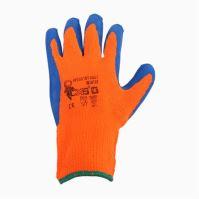 rukavice YES Winter, s PU dlaňou a úpletom, velikost 10