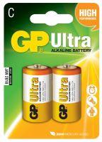batérie GP Ultra Alkaline, LR14, malé mono C, blister 2 ks, 1,5 V