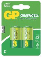 batérie GP Greencell, zinkovo - chloridová R14, malé mono C, blister 2 ks, 1,5 V