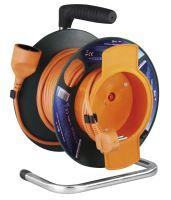 kábel predlžovací,oranžový,na odvíjacom bubne,so spojkou,tepelná poistka,25m,~ 230V/16A
