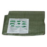 plachta krycia, zelená, s kovovými okami, 5 x 6 ma štandard