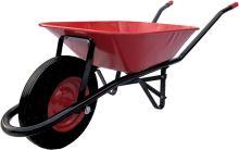 fúrik, ťahaná korba, červeno - čierne, koleso nafukovacie, 60l