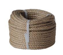 lano stáčané, prírodné s polypropylénom, bez jadra, J-PP, O 16 mm x 20 m, Lanex